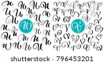 set of hand drawn vector... | Shutterstock .eps vector #796453201