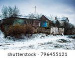 Old Multi Colored Wooden Rural...