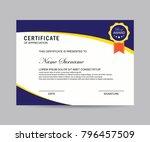 modern certificate vector | Shutterstock .eps vector #796457509