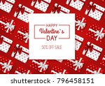 valentines day sale red... | Shutterstock .eps vector #796458151