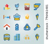 icon set about travel. with... | Shutterstock .eps vector #796461481