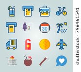 icon set about travel. with... | Shutterstock .eps vector #796461541