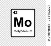 molybdenum chemical element.... | Shutterstock .eps vector #796463224