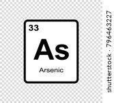 arsenic chemical element. sign... | Shutterstock .eps vector #796463227