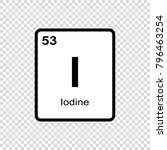 iodine chemical element. sign... | Shutterstock .eps vector #796463254