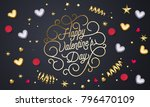 happy valentines day greeting... | Shutterstock .eps vector #796470109