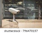 Surveillance Camera At The...