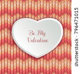 valentines day background with... | Shutterstock .eps vector #796471015