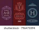beverage packaging design. set...   Shutterstock .eps vector #796473394