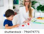 child psychology  toddler doing ... | Shutterstock . vector #796474771