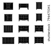 set of chests of drawers ... | Shutterstock .eps vector #796475341
