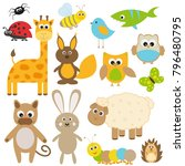 vector set. collection of... | Shutterstock .eps vector #796480795