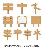 set of wooden signboard and... | Shutterstock .eps vector #796486087