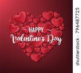 happy valentines day | Shutterstock .eps vector #796487725
