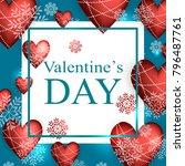 valentines day vector. | Shutterstock .eps vector #796487761