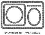 set of seamless black frame for ... | Shutterstock .eps vector #796488631