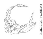 coloring book page of flowers... | Shutterstock .eps vector #796489654