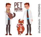 veterinarian male vector. dog... | Shutterstock .eps vector #796490041