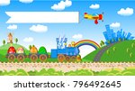easter greeting card delivery... | Shutterstock .eps vector #796492645