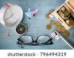 holiday concept with wooden... | Shutterstock . vector #796494319