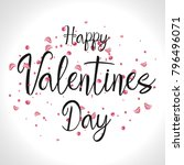 happy valentine's day vector ... | Shutterstock .eps vector #796496071