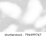 abstract halftone wave dotted... | Shutterstock .eps vector #796499767