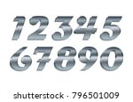 mathematics numeral silver ... | Shutterstock .eps vector #796501009