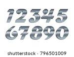 mathematics numeral silver ... | Shutterstock .eps vector #796501009