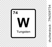 tungsten chemical element. sign ... | Shutterstock .eps vector #796509754