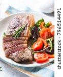 grilled beef striploin steak... | Shutterstock . vector #796514491