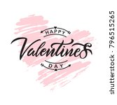 happy valentines day typography ... | Shutterstock .eps vector #796515265