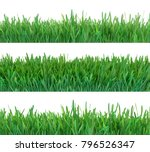 green grass banners set. nature ... | Shutterstock . vector #796526347