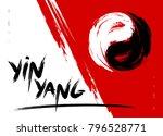 vector watercolor brush yin... | Shutterstock .eps vector #796528771