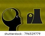 child exposed to radioactivity. ... | Shutterstock . vector #796529779