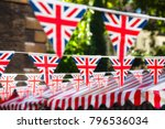 union jack flag triangular... | Shutterstock . vector #796536034