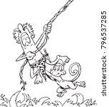 illustration of tarzan with...