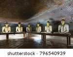 group of sitting buddha statues ... | Shutterstock . vector #796540939