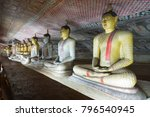 group of sitting buddha statues ... | Shutterstock . vector #796540945
