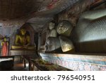 group of buddha statues in cave ... | Shutterstock . vector #796540951
