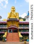 big golden buddha statue in... | Shutterstock . vector #796541371