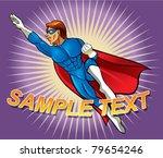 superhero flying pose | Shutterstock .eps vector #79654246