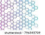 Background minimalism, techno design, hexagons, hexagonal background with hexagon distortion | Shutterstock vector #796545709