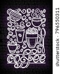 coffee house vintage poster... | Shutterstock . vector #796550311