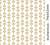 golden geometric seamless... | Shutterstock .eps vector #796552444