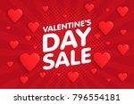 valentine's day sale banner in... | Shutterstock .eps vector #796554181