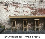three bar stools in the... | Shutterstock . vector #796557841