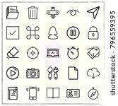 web interface line icons set... | Shutterstock .eps vector #796559395