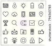 web interface line icons set... | Shutterstock .eps vector #796565785