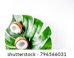 summer dessert with coconut on...   Shutterstock . vector #796566031