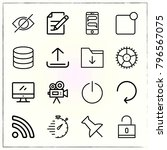 web interface line icons set... | Shutterstock .eps vector #796567075